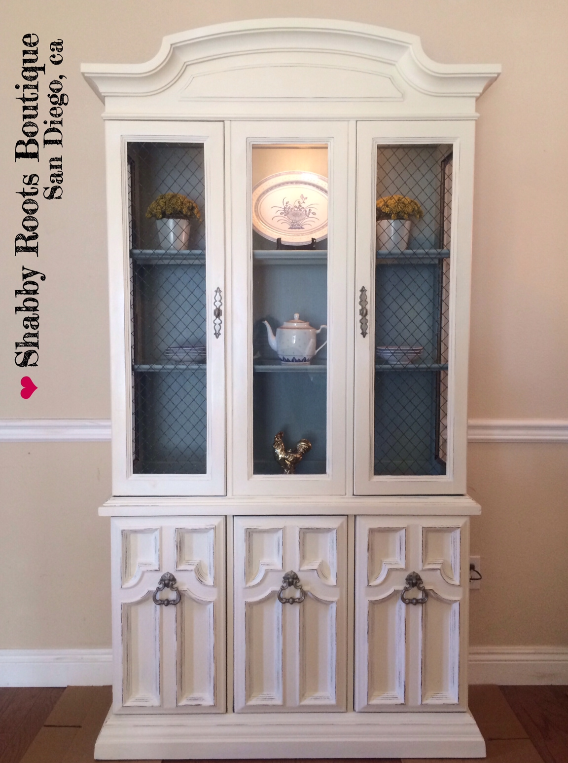 antique shabby chic china cabinet shabby roots boutique rh shabbyroots com shabby chic china hutch for sale shabby chic china hutch for sale