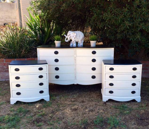 white black dresser set2